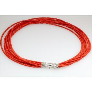天然本赤珊瑚8連ネックレス SV925 megumi-1 04