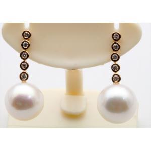 あこや本真珠 ダイヤモンドピアスK18PG megumi-1 02