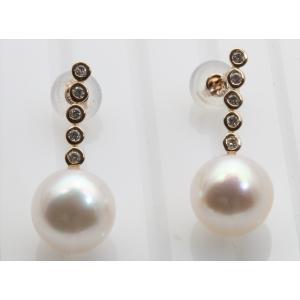 あこや本真珠 ダイヤモンドピアスK18PG megumi-1 04