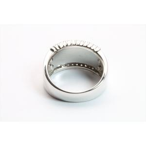 上質ダイヤモンド&レーザーデザイン彫りリング K18WG|megumi-1|04