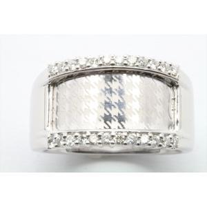 上質ダイヤモンド&レーザーデザイン彫りリング K18WG|megumi-1|05