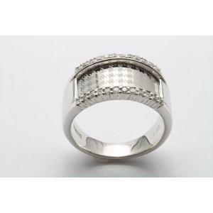 上質ダイヤモンド&レーザーデザイン彫りリング K18WG|megumi-1|06