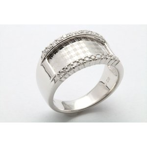 上質ダイヤモンド&レーザーデザイン彫りリング K18WG|megumi-1|07