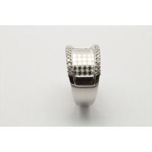 上質ダイヤモンド&レーザーデザイン彫りリング K18WG|megumi-1|08