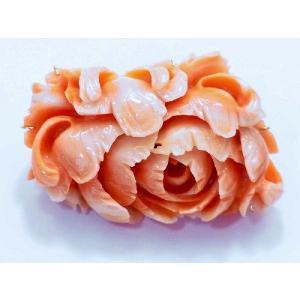 ボケ珊瑚フラワー透かし彫りブローチ&ペンダントトップ|megumi-1|02