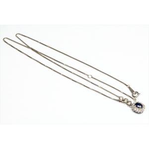ブルーサファイア ダイヤモンドペンダント PT900/ PT850|megumi-1|03