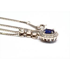 ブルーサファイア ダイヤモンドペンダント PT900/ PT850|megumi-1|04
