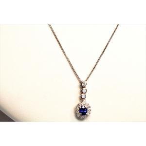 ブルーサファイア ダイヤモンドペンダント PT900/ PT850|megumi-1|06