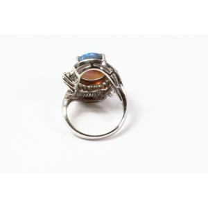 ブラックオパール ダイヤモンドリング PT900 新品 レディース|megumi-1|03
