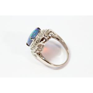 ブラックオパール ダイヤモンドリング PT900 新品 レディース|megumi-1|04