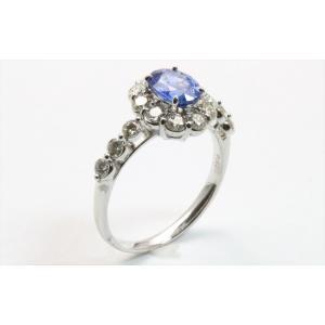 ブルーサファイア ダイヤモンドリング PT900 新品 レディース|megumi-1|04
