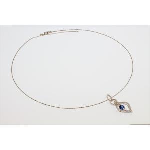 天然ロイヤルブルーサファイア ダイヤモンドネックレス K18WG 宝石鑑別書付|megumi-1|02