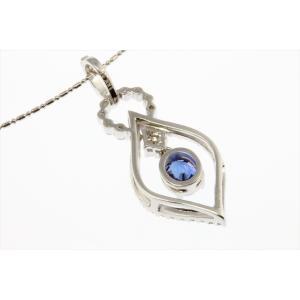 天然ロイヤルブルーサファイア ダイヤモンドネックレス K18WG 宝石鑑別書付|megumi-1|04