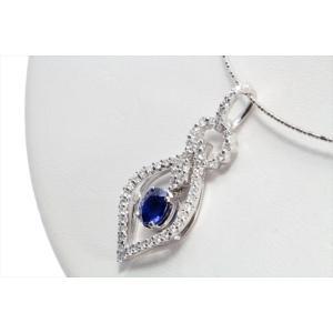 天然ロイヤルブルーサファイア ダイヤモンドネックレス K18WG 宝石鑑別書付|megumi-1|05