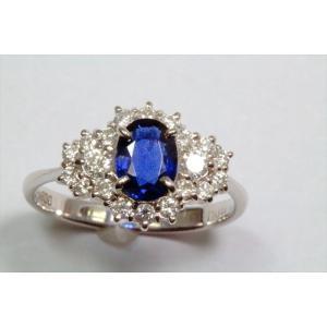 ブルーサファイア ダイヤモンドリングPT900|megumi-1|02