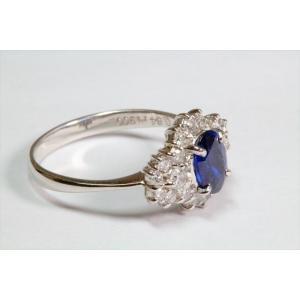 ブルーサファイア ダイヤモンドリングPT900|megumi-1|03