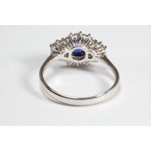 ブルーサファイア ダイヤモンドリングPT900|megumi-1|04