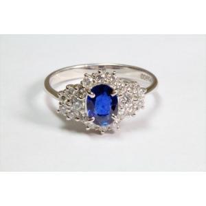 ブルーサファイア ダイヤモンドリングPT900|megumi-1|05