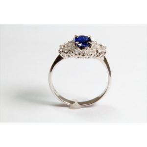 ブルーサファイア ダイヤモンドリングPT900|megumi-1|06