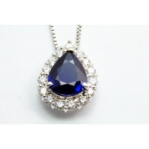ブルーサファイア ダイヤモンド ネックレス PT900/PT850|megumi-1