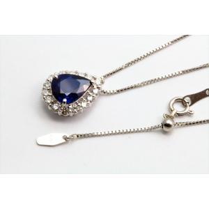 ブルーサファイア ダイヤモンド ネックレス PT900/PT850|megumi-1|02