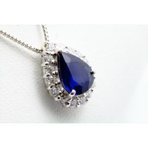 ブルーサファイア ダイヤモンド ネックレス PT900/PT850|megumi-1|03