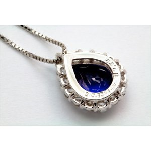 ブルーサファイア ダイヤモンド ネックレス PT900/PT850|megumi-1|04