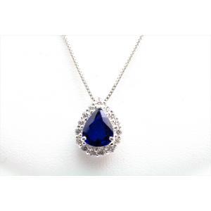 ブルーサファイア ダイヤモンド ネックレス PT900/PT850|megumi-1|05