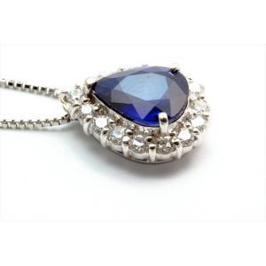 ブルーサファイア ダイヤモンド ネックレス PT900/PT850|megumi-1|06