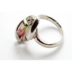 天然バイカラートルマリン ダイヤモンドリングPT900 新品 レディース|megumi-1|06