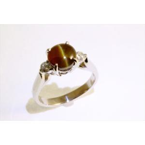 クリソベリルキャッツアイ ダイヤモンドリング PT900|megumi-1|02