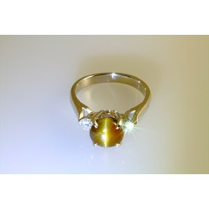 クリソベリルキャッツアイ ダイヤモンドリング PT900|megumi-1|03