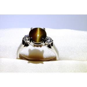 クリソベリルキャッツアイ ダイヤモンドリング PT900|megumi-1|06