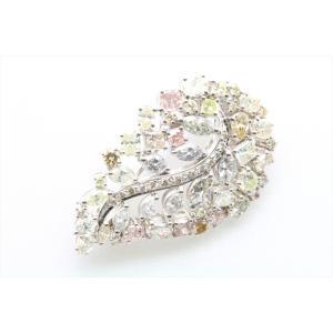天然カラー ダイヤモンド 4.83ctブローチ&ペンダント K18WG 新品 レディース|megumi-1|03