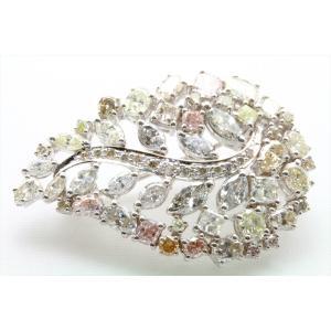 天然カラー ダイヤモンド 4.83ctブローチ&ペンダント K18WG 新品 レディース|megumi-1|04