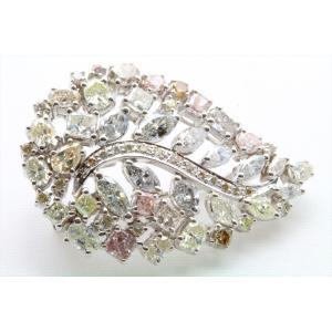 天然カラー ダイヤモンド 4.83ctブローチ&ペンダント K18WG 新品 レディース|megumi-1|05