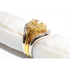 ダイヤモンドリングK18& V型ダイヤペアリングPT900 3点セット|megumi-1|04