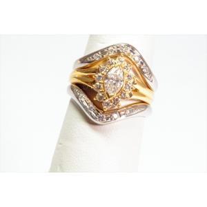 ダイヤモンドリングK18& V型ダイヤペアリングPT900 3点セット|megumi-1|06