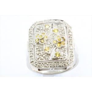ダイヤモンド イエローダイヤモンドリング PT900|megumi-1