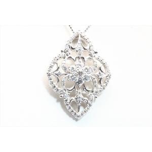上質ダイヤモンドネックレス K18WG|megumi-1
