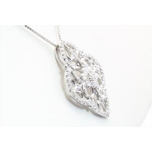 上質ダイヤモンドネックレス K18WG|megumi-1|02