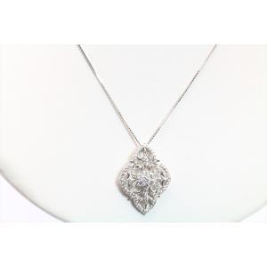 上質ダイヤモンドネックレス K18WG|megumi-1|03