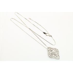 上質ダイヤモンドネックレス K18WG|megumi-1|05