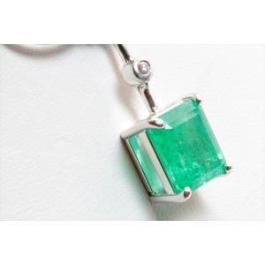 天然エメラルド ダイヤモンドチェーンネックレス K18WG|megumi-1|05