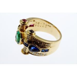 エメラルド ルビー ブルーサファイア ダイヤモンドリング K18|megumi-1|07