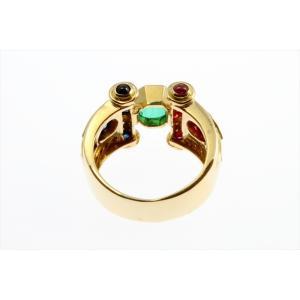 エメラルド ルビー ブルーサファイア ダイヤモンドリング K18|megumi-1|04