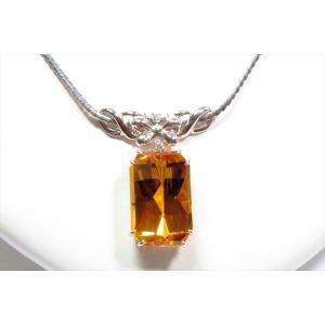 ゴールデンベリル ダイヤモンドネックレスPT900/PT850 新品 レディース|megumi-1