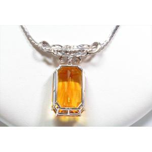 ゴールデンベリル ダイヤモンドネックレスPT900/PT850 新品 レディース|megumi-1|04