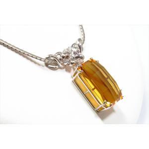 ゴールデンベリル ダイヤモンドネックレスPT900/PT850 新品 レディース|megumi-1|06