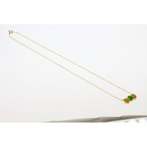 本翡翠 ダイヤモンド リボンモチーフネックレス K18|megumi-1|06